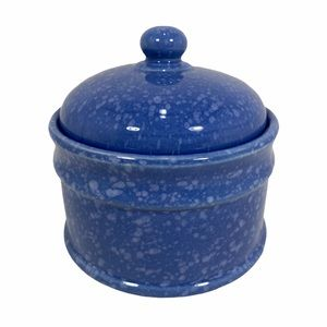 Small Covered Decorative Ceramic Canister